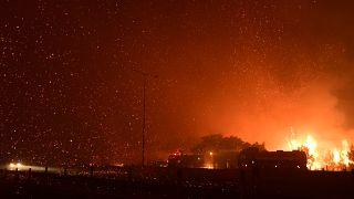 حرائق بالقرب من أُثينا