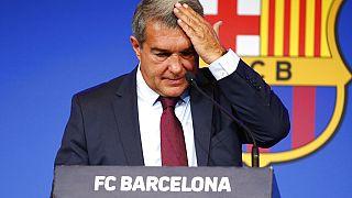 Joan Laporta, presidente del FC Barcelona