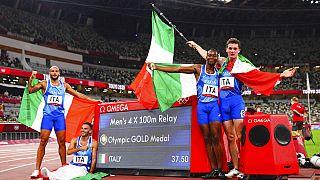 Jacobs, Tortu, Desalu e Patta, oro olimpico nella 4x100 a Tokyo2020