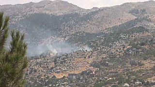 Cruce de bombardeos entre Líbano e Israel