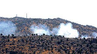 Die israelische Armee bombardiert das südlibanesische Dorf Kfar Shouba (6.8.2021)