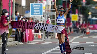 Antonella Palmisano, vencedora dos 20 km marcha,