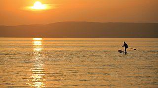 Prevenção de acidentes no Lago Balaton na Hungria