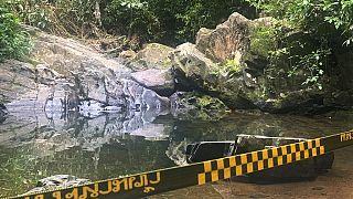 Der Wasserfall, an dem die Leiche der Schweizer Touristin gefunden wurde