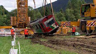Bergung des Triebwagens