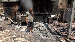 Marmaris'te orman yangınında evini kaybeden Mustafa Şahin
