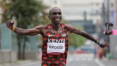 Kenya's Kipchoge retains men's Olympic marathon title