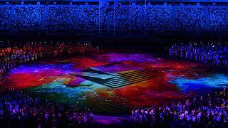 A nyári olimpia záróünnepsége az Olimpiai Stadionban