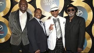 George Brown, Ronald Bell, Dennis Thomas and Robert 'Kool' Bell of Kool and the Gang at the 2014 Soul Train Awards.