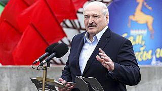 Belarusian President Alexander Lukashenko  Aug. 6, 2021. (Maxim Guchek/BelTA, Pool Photo via AP)