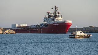 """Die """"Ocean Viking"""" bei einer früheren Ankunft in Sizilien"""