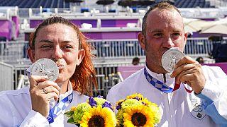 San Marinolu, gümüş madalya kazanan sporcular