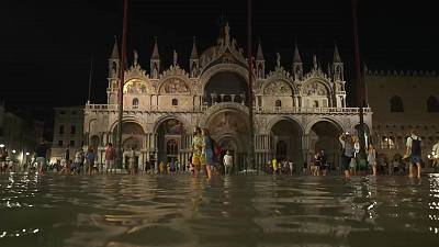 Piazza San Marco, one of the Venice's most popular tourist spots has flooded.