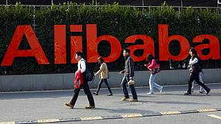 Alibaba'nın Çin'in Hanzhou şehrindeki genel merkezinden bir kare.