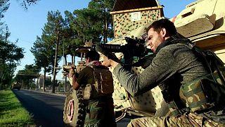 نیروی امنیتی افغانستان در جنگ با طالبان