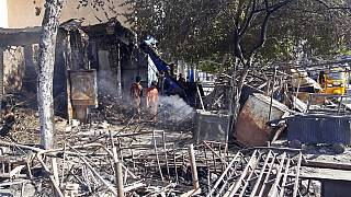 Ciò che resta dopo i combattimenti tra talebani e forze di sicurezza afghane nella città di Kunduz, Afghanistan settentrionale