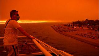 Enorme incêndio devora florestas na ilha de Eubeia