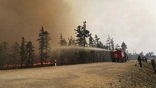 L'incendio nella foresta di Gorny Ulus, in Jacuzia.