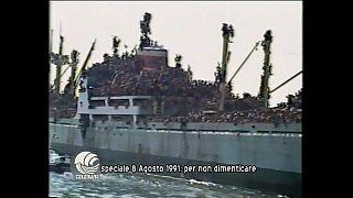 1991 - Vlora: a bordo 18mila albanesi