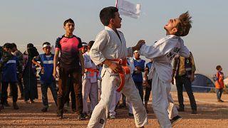 Suriyeli çocuklardan İdlib'de '2020 Çadır Olimpiyatları'