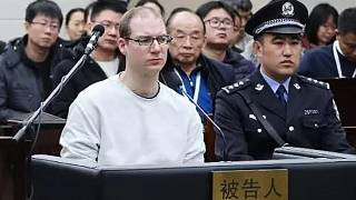 الكندي روبرت لويد شيلينبرغ  خلال جلسة استماع في المحكمة، الصين
