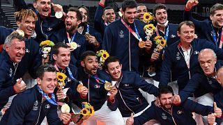 Französische Fans feiern Olympia-Sieger