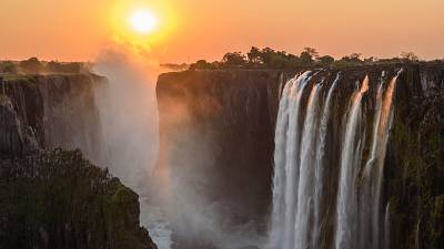 The beautiful Victoria Falls in Zimbabwe, a cornerstone of the country's tourism sector.