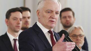 Poland's deputy prime minister Jaroslaw Gowin in Warsaw on April 6, 2020.