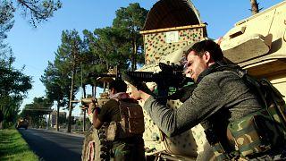 Afganistan'ın batısındaki Herat kentinde Taliban militanlarına karşı savaşan özel eğitimli Afgan komandolar