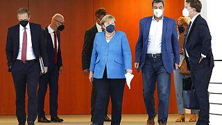 Corona-Gipfel mit Angela Merkel und Markus Söder in Berlin