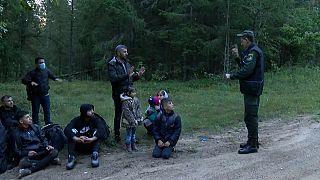 На латвийско-белорусской границе