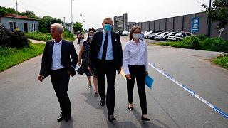 Canada Ambassador to China, arrives to a detention center to meet Canadian Michael Spavor