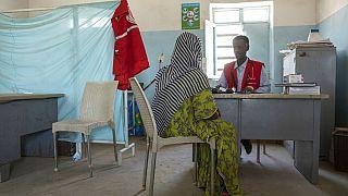 Eine Frau aus Tigray in der Klinik des Sudanesischen Roten Halbmonds in Hamdayet nahe der sudanesisch-äthiopischen Grenze im Osten des Sudan.23.03.2021