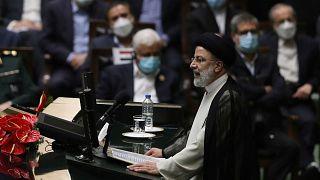ابراهیم رئیسی در مراسم تحلیف ریاست جمهوری در مجلس شورای اسلامی