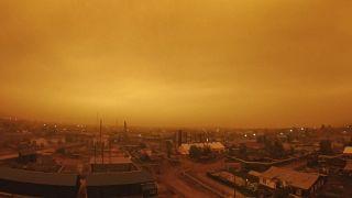 Дым от пожаров в Якутии