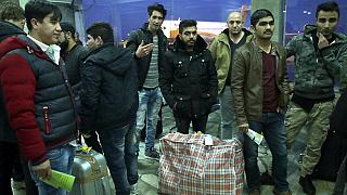 Afghans who were deported from Germany arrive at Kabul International Airport, Kabul, Afghanistan, Thursday, Dec. 15, 2016.