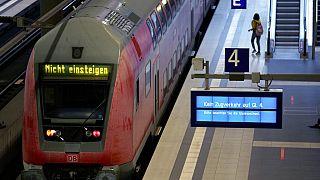 Tren parado en Alemania