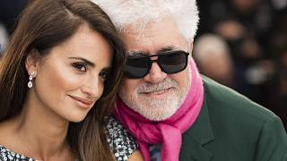 Actress Penelope Cruz, left, and director Pedro Almodovar at the 72nd international film festival in Cannes in 2019.