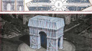 مخطط الفنان البلغاري الراحل كريستو لتغليف قوس النصر في باريس