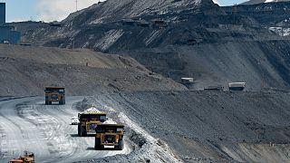 A view of the Kumtor gold mine, in Kumtor 350 kilometers east of Bishkek, Kyrgyzstan, Friday, May 28, 2021.