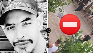 الشاب الجزائري جمال بن اسماعيل الذي لقي مصرعه حرقا