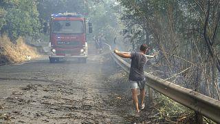 آتش سوزی جنوب ایتالیا