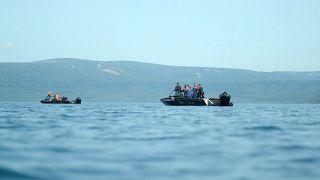 Спасатели на Курильском озере