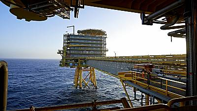 In this Oct. 23, 2013, file photo of A.P. Moller-Maersk's oil rig in the North Sea named Halfdan.