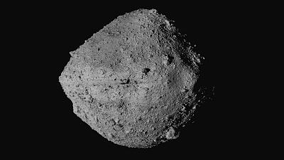 Image from NASA shows the asteroid Bennu from the OSIRIS-REx spacecraft.