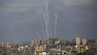 إطلاق صواريخ من قطاع غزة باتجاه إسرائيل 12 أغسطس / آب 2021.