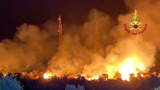 Sicilya'daki orman yangınları