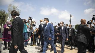 وزير الخارجية المغربي ناصر بوريطة يستقبل وزير الخارجية الإسرائيلي يائير لبيد في الرباط الأربعاء 11 أغسطس-آب