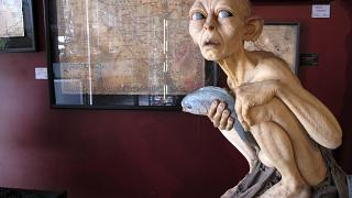 """Some of the costumes, props and memorabilia created for the """"The Lord of the Rings"""" and """"The Hobbit"""" movies are displayed in a mini-museum at Weta Cave in Wellington, New Zea"""