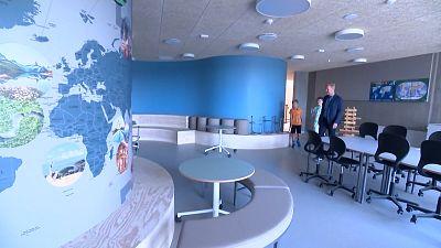 The new Frello School in Varde, western Denmark.